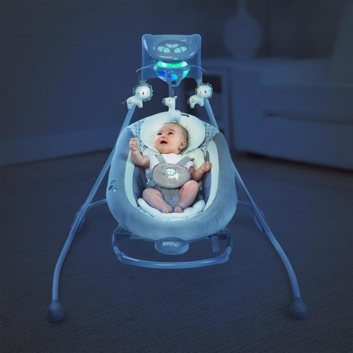 Ingenuity 10076 Leagan si balansoar InLighten Cradling Swing Orson
