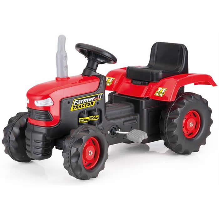 BabyGo - Tractor cu pedale Red